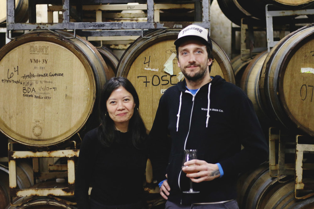 Ria Neri & Brian Taylor, co-founders of Whiner Beer Co. in Chicago's Back of the Yards.