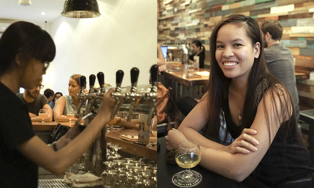 Right: Taproom Manager, Nguyen Nga