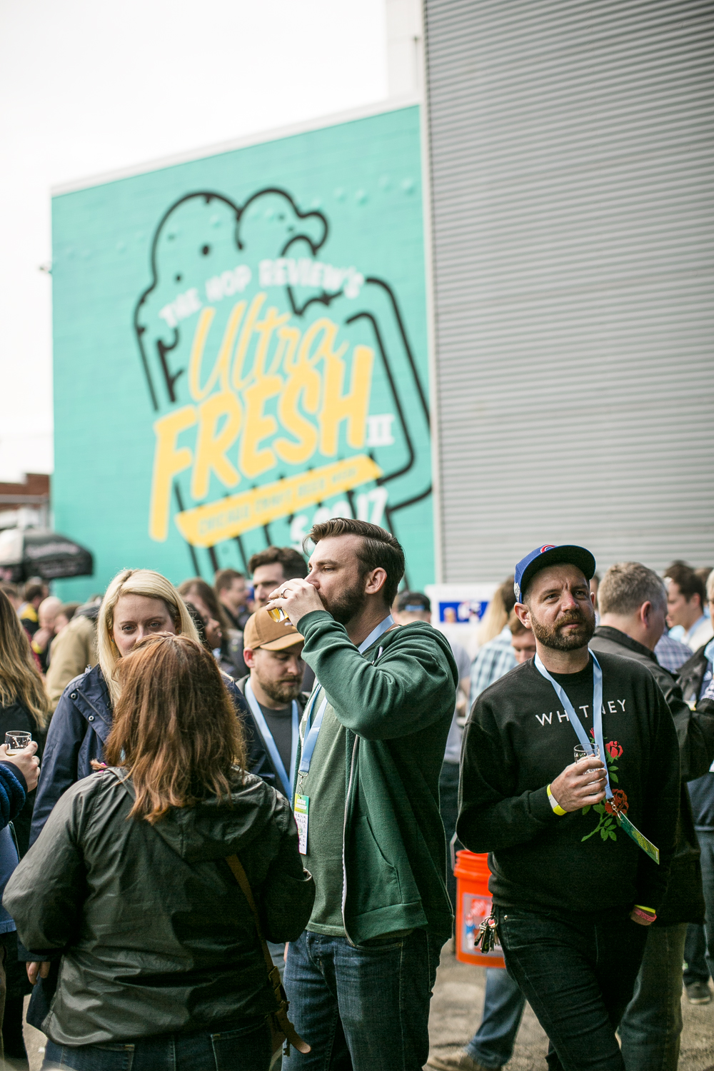Guests sampled among 24 different breweries' beers at Ultra Fresh II
