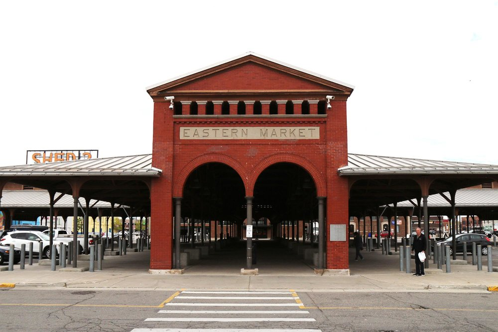 The historic main entrance to Eastern Market, Shed 2.