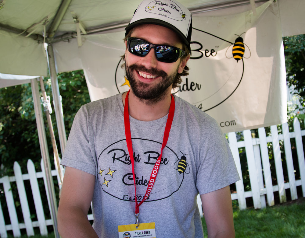 Right Bee Cider's Charlie Davis.