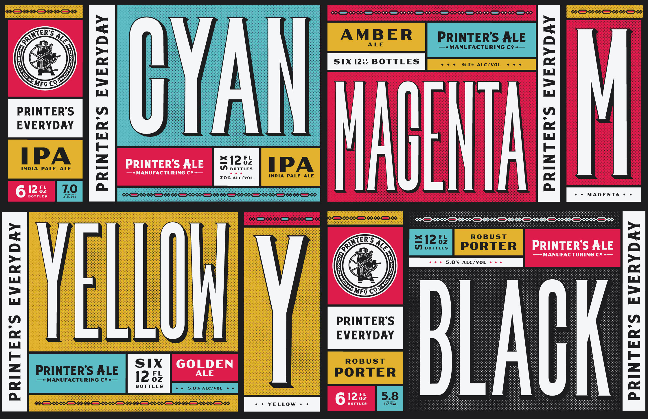 Beer & Branding: Printer's Ale Manufacturing Co.