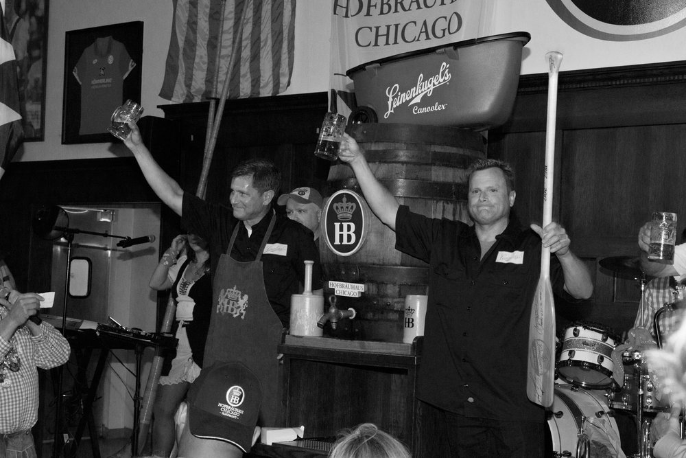 Dick and John Leinenkugel raise a glass to 150 years, with their collaboration brew with HB.