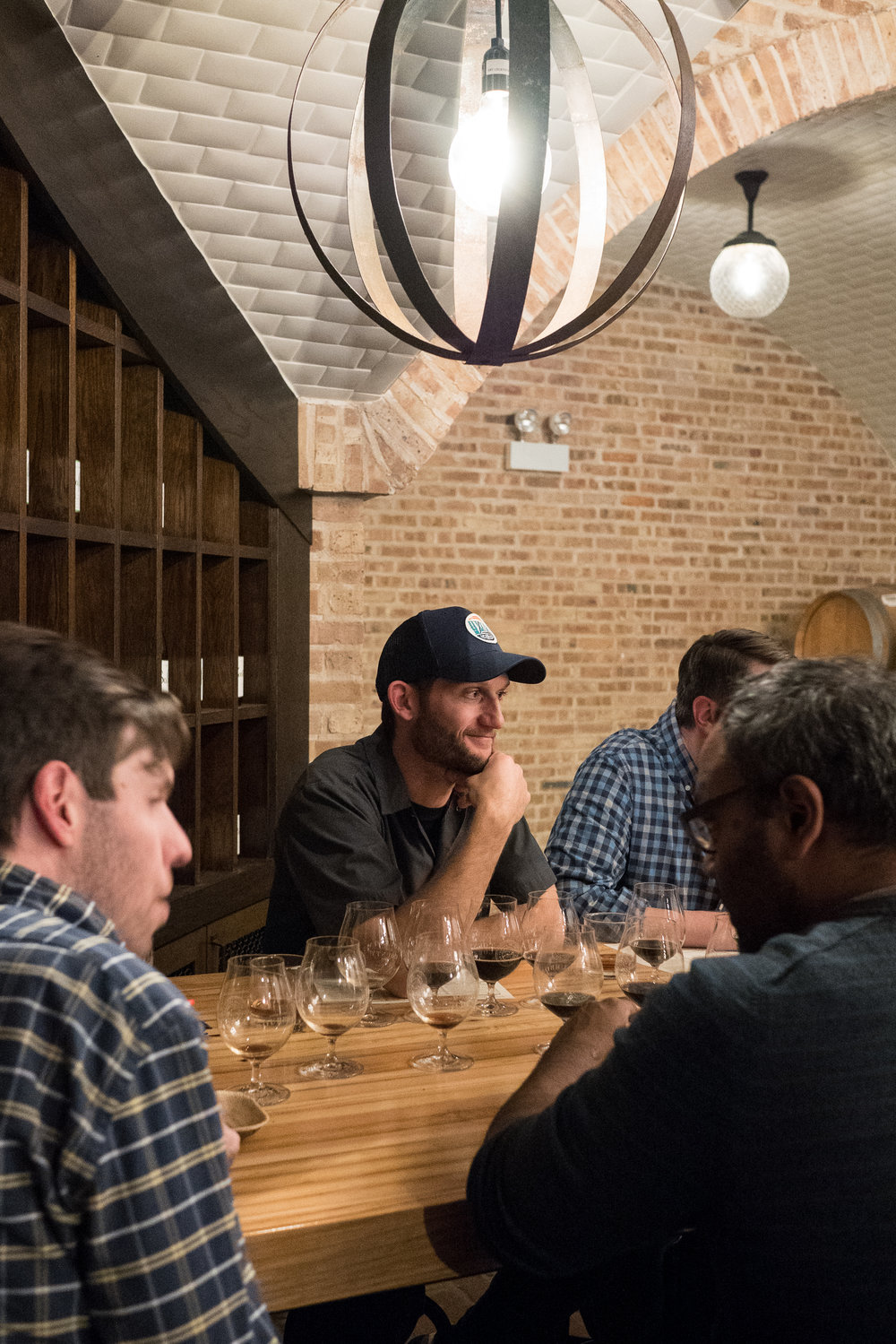 Goose Island brewer, Quinn Fuechsl, contemplates his chosen recipe for 2017's Proprietor's BCBS.