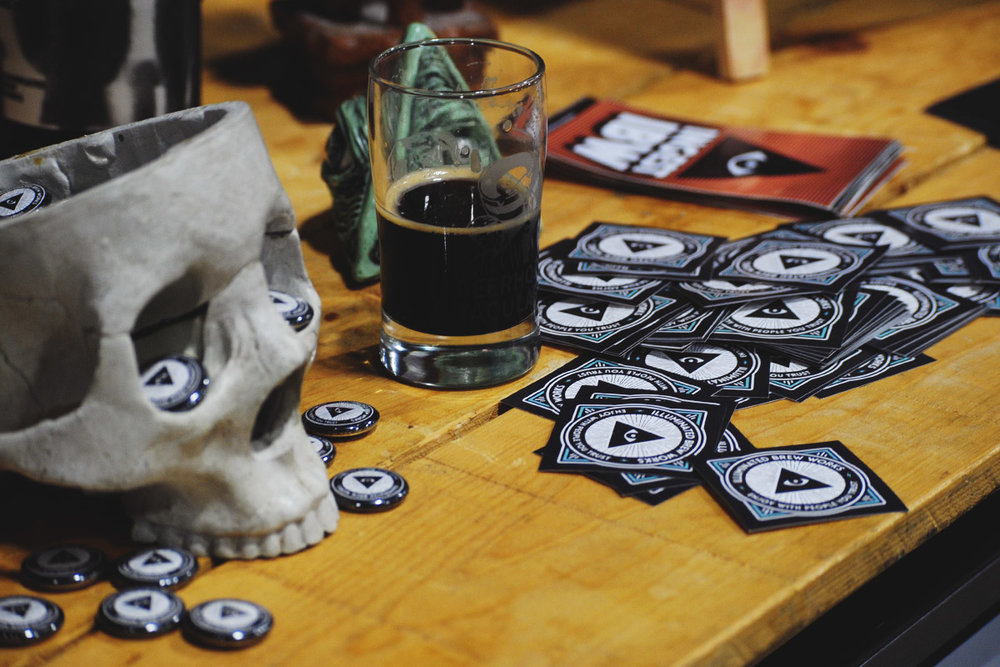 Illuminated Brew Works brought the heat, with their  El Roje Noche  imperial stout.