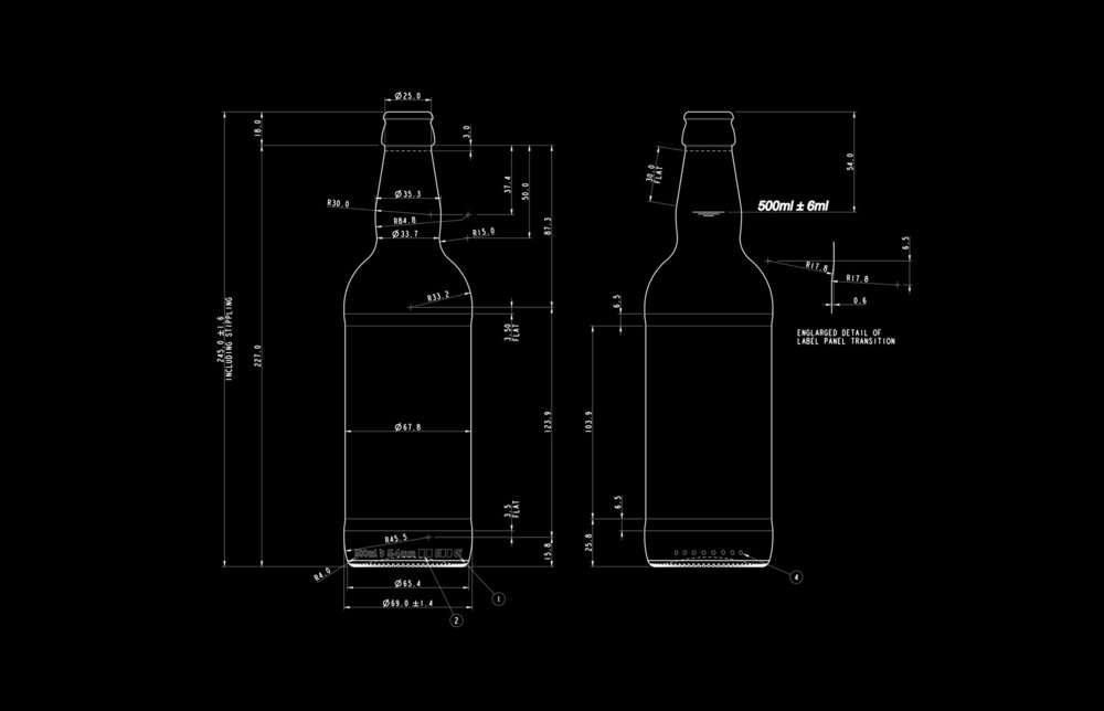500ml Bottle silhouette.