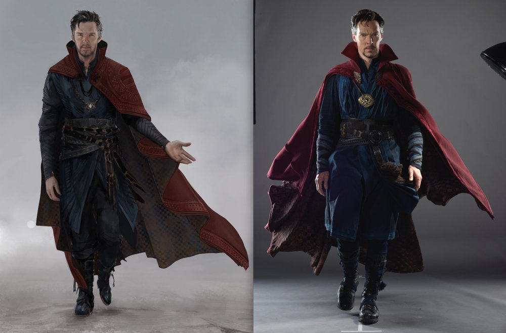 Dr Strange :Front with Cape (Final Cape Design made by  Jack Dudman)   Doctor Strange (2016)  Company: Marvel Films
