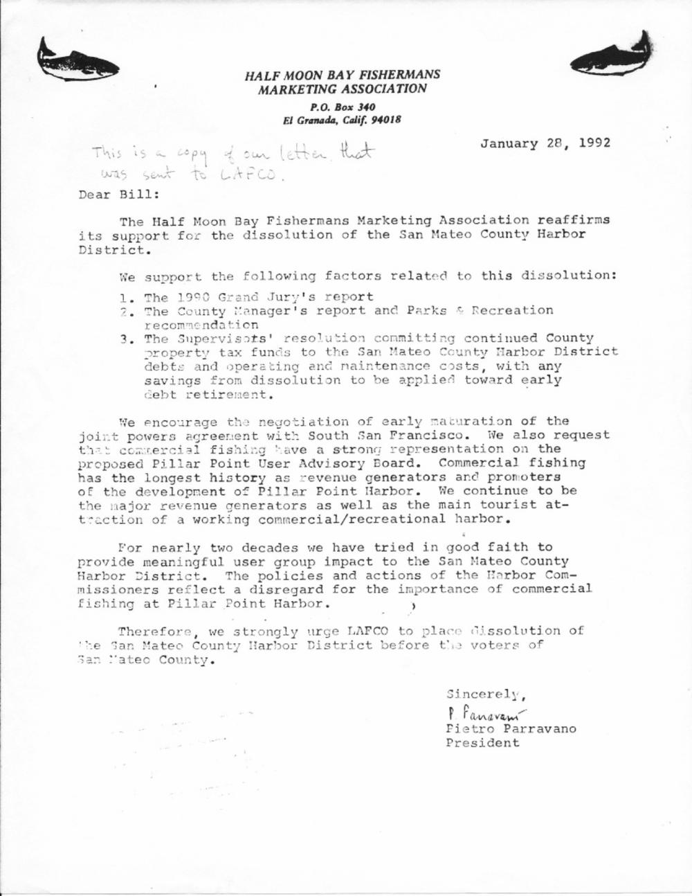 Pietro-Parravano-SMCHD-dissolution-letter-1992-01-28