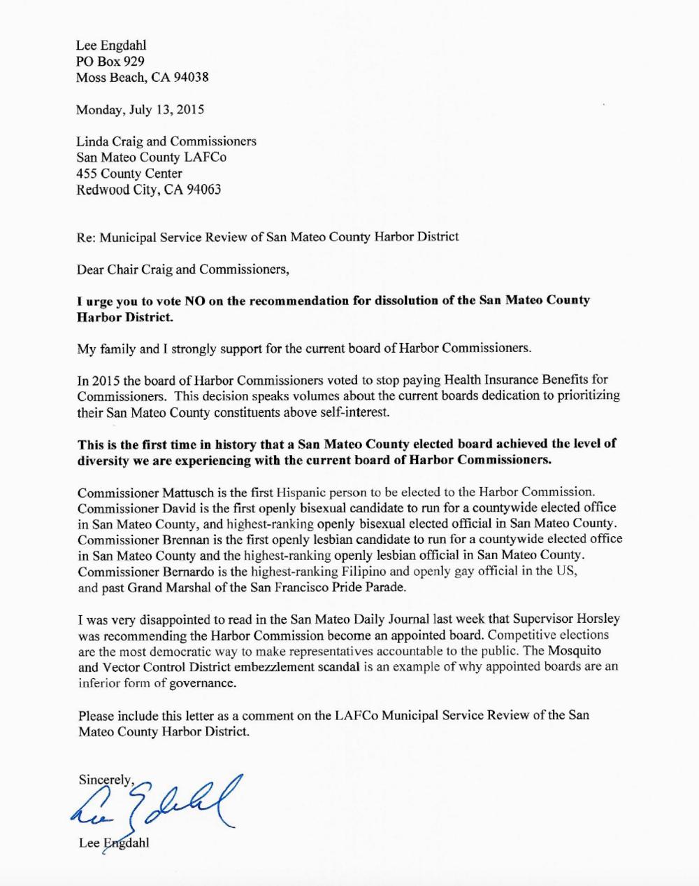 Lee Engdahl Letter SMC LAFCo