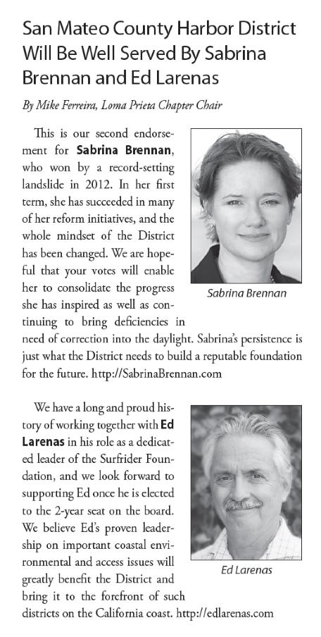 Sabrina Brennan Ed Larenas Sierra Club Endorsements