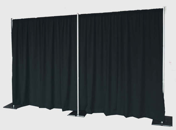 Pipe and Drape5-10 feet high and 9-17 feet wide -