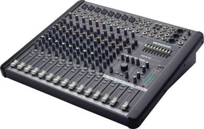 16 channel sound mixerplus microphones and speakers. -