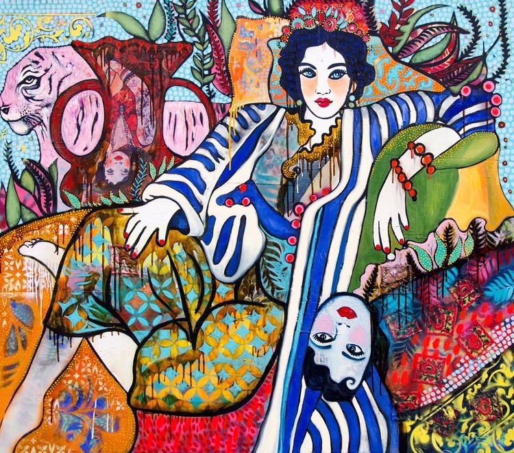 Hommage à Matisse (Odalisque en intérieur Jungle)