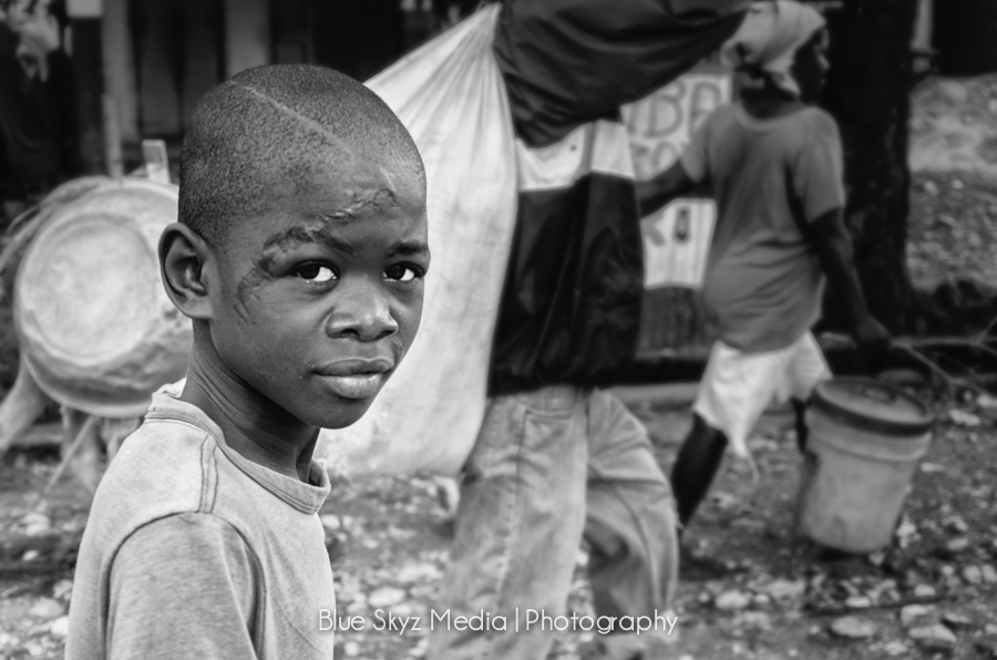 A Young Boy in Haiti