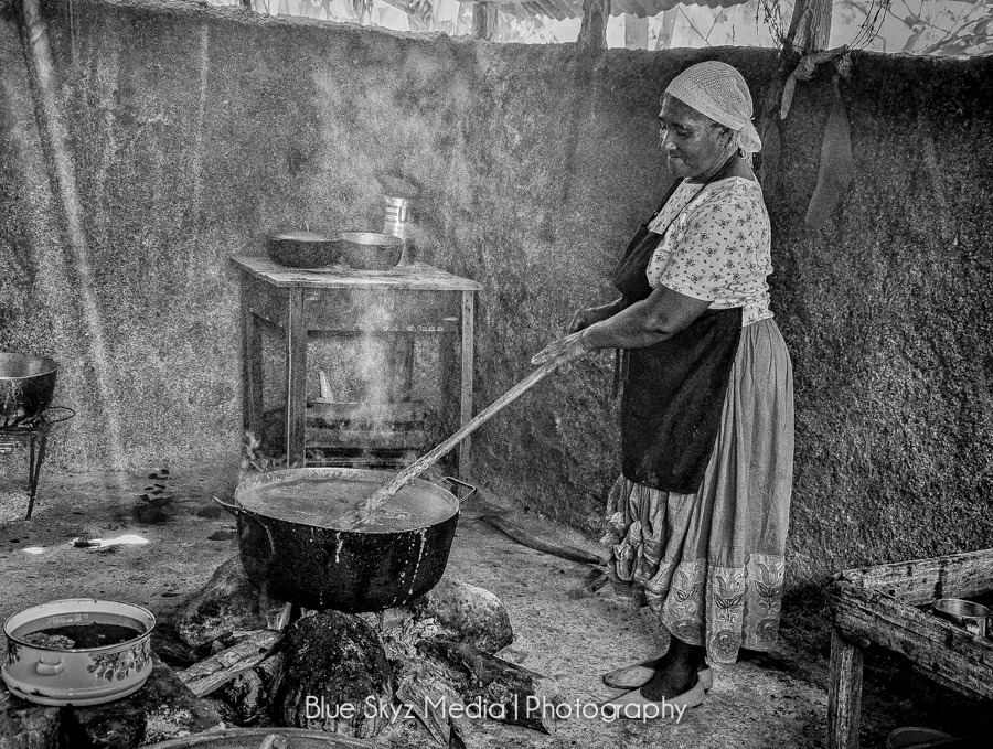 Cooking in Haiti