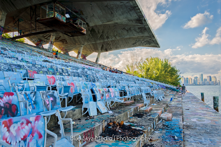 Stands at Miami Marine Stadium