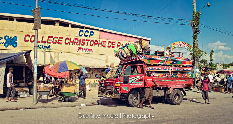 Tap Tap in Port-au-Prince