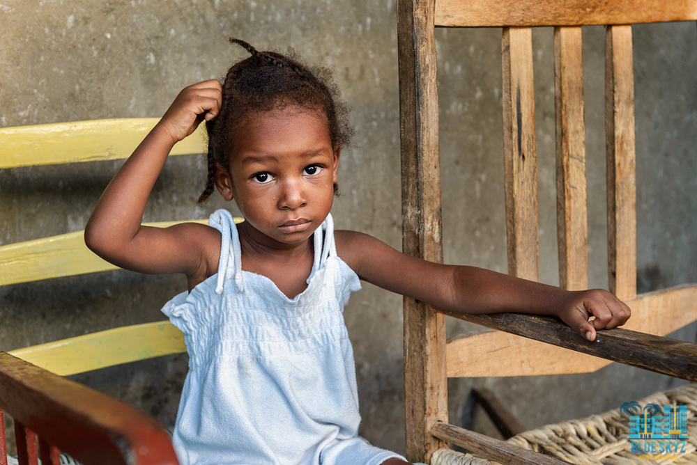 A young child in Haiti