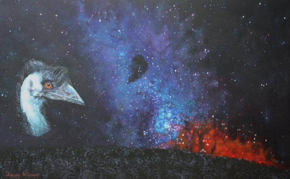 Emu Head in the Sky by Arlene Williams