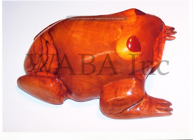 Baw Baw Frog, Lawrence Marshall, timber, 150 x 240 x 110 mm