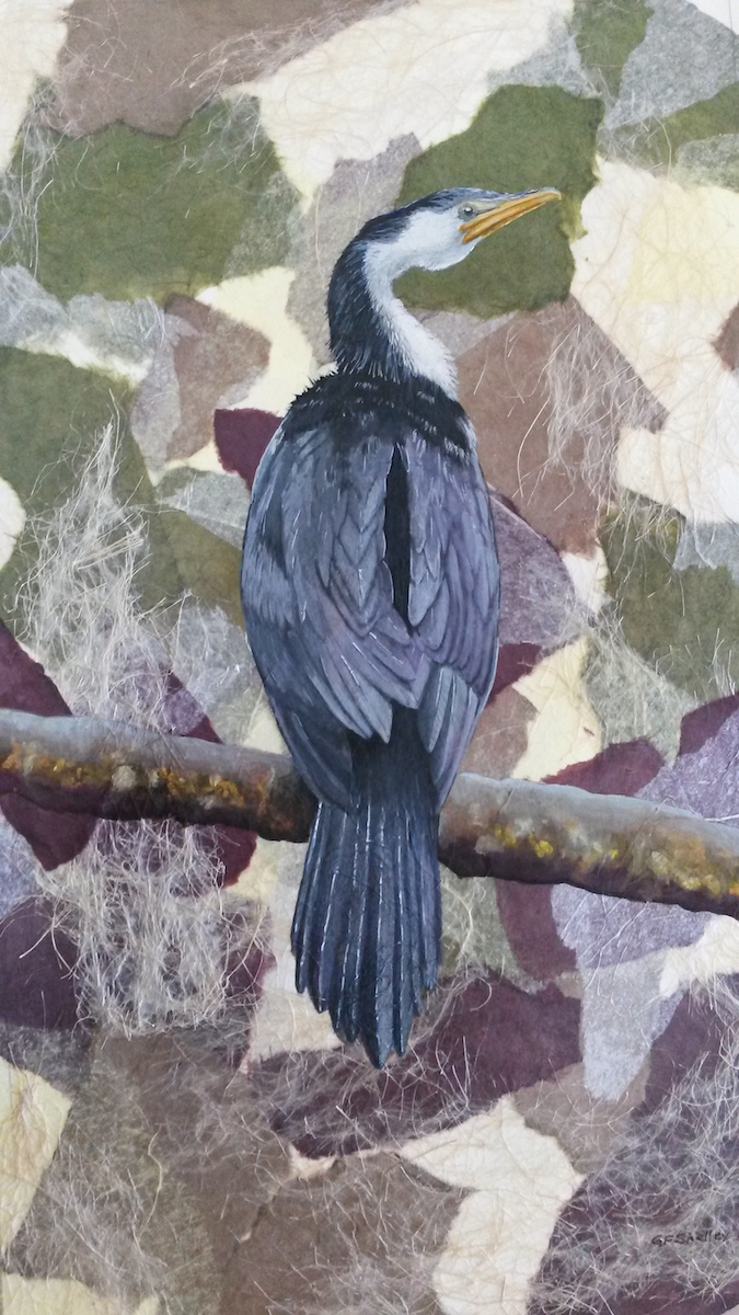 2015_Cormorant_GFShelley_gouache on collage.jpg