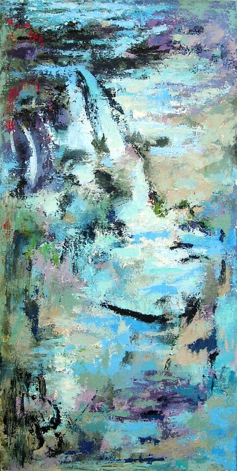 Acrylic abstraction by Molly Moldovan, Apsley Studio Tour