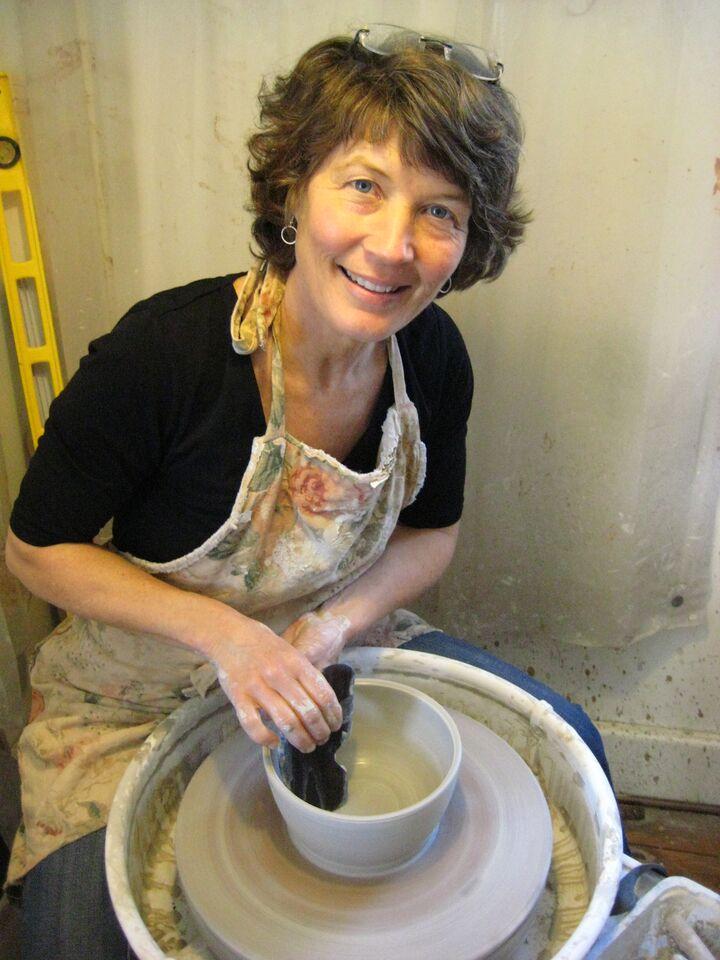 Karen Gray, pottery artist, Bancroft Studio Tour