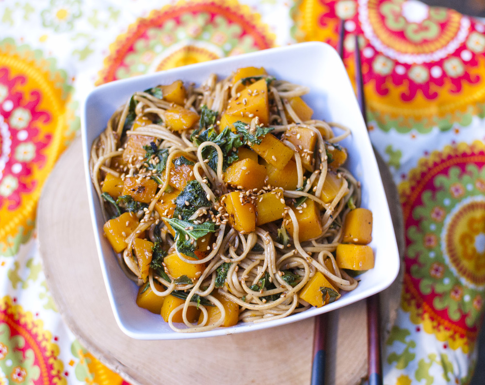 Butternut Kale Soba Noodles from Fo' Reals Life