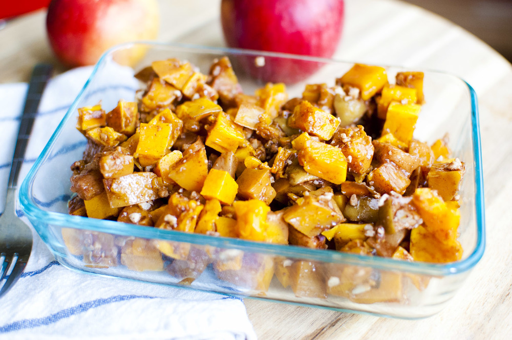 Maple Roasted Apples and Butternut Squash — Fo Reals Life