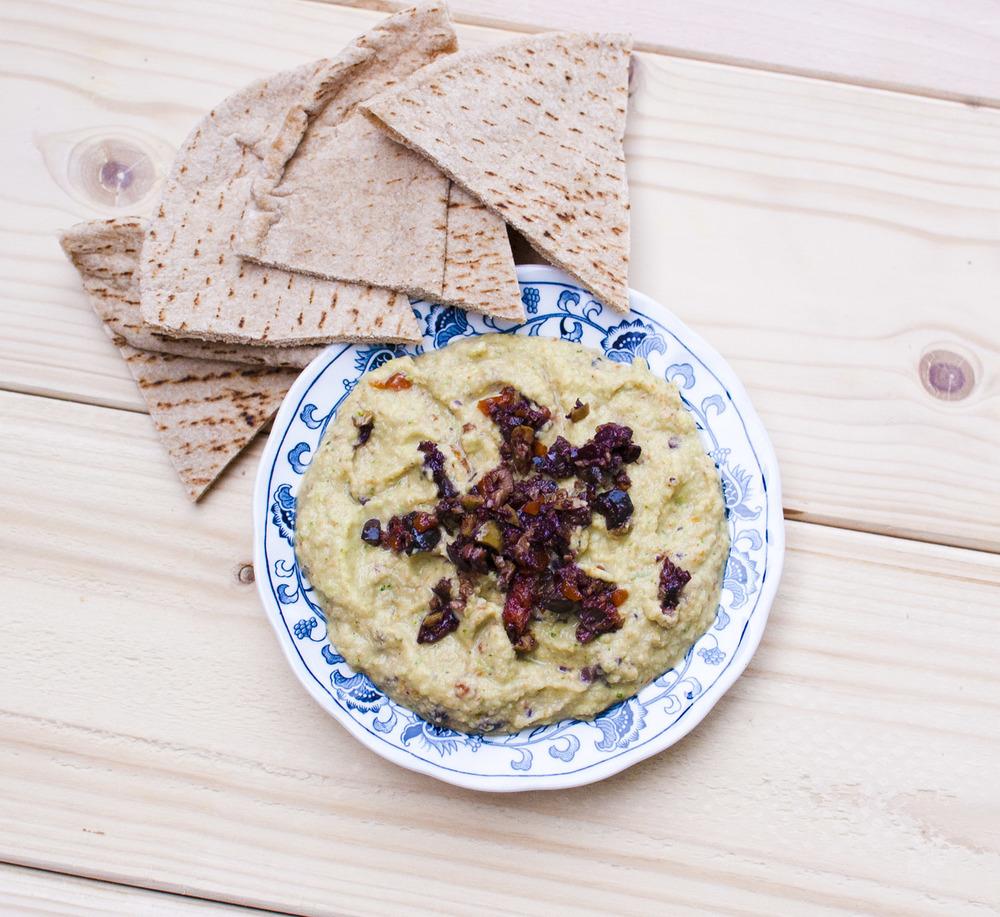 Zucchini Olive Hummus