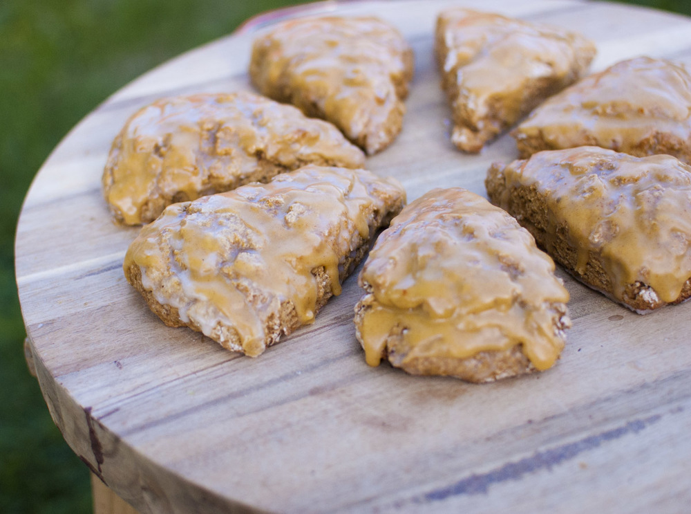 Vegan (low-fat) Pumpkin Spice Scones from Fo' Reals Life