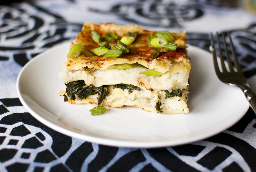 Potato Kale Lasagna from Fo' Reals Life