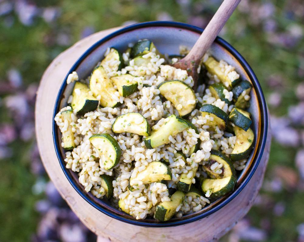 Zucchini Rice Salad
