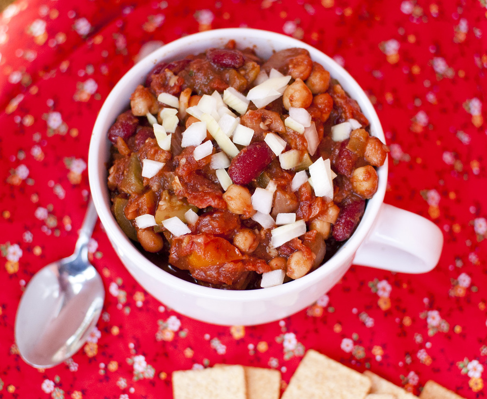 Easy 3 Bean Veggie Chili
