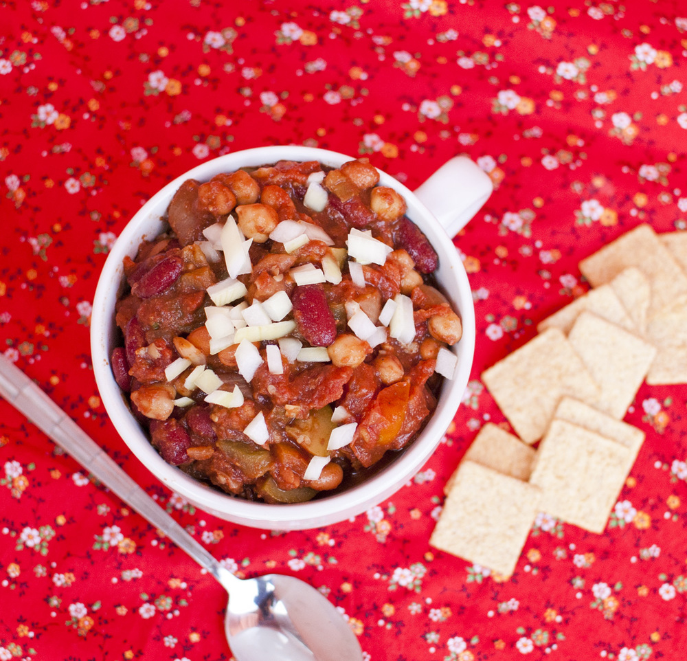 Easy Three Bean Vegetable Chili