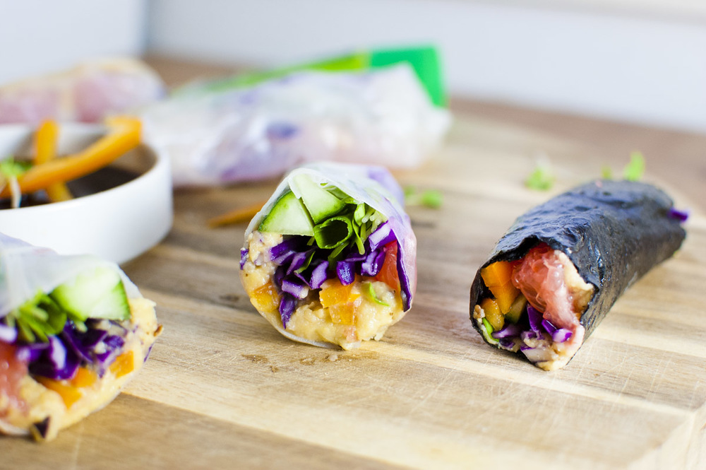 Spicy Wasabi Grapefruit Vegetable Rolls