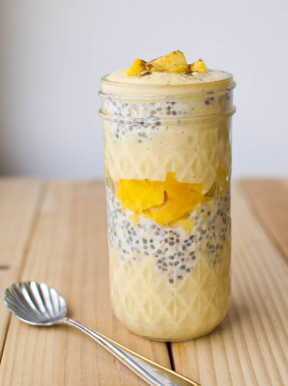 Vegan Mango Lassi Overnight Oatmeal Parfait — Fo Reals Life