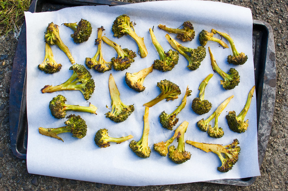 Plant Strong Sriracha Roasted Broccoli