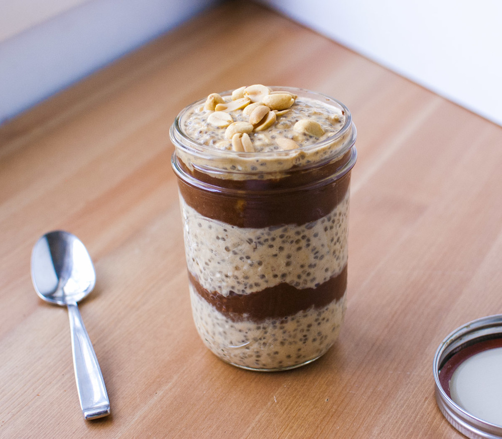 Peanut Butter and Chocolate Overnight Oats Parfait (vegan and plant ...