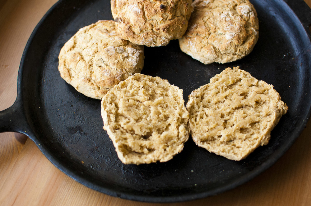 Vegan Rosemary Potato Biscuits (plant strong, oil & margarine free!)