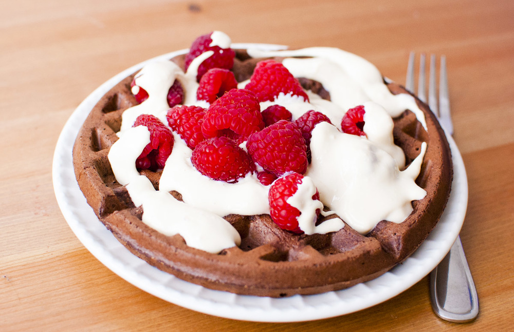 Vegan Chocolate Whole Wheat Waffles! (Plant Strong!)