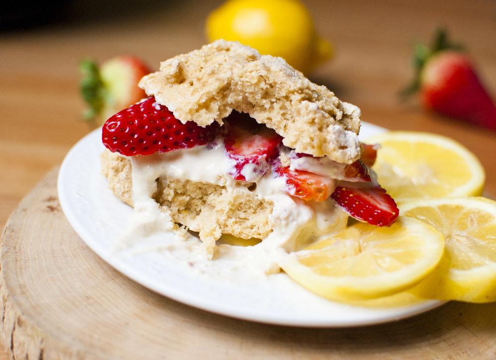 Strawberry Lemon Shortcakes (vegan)