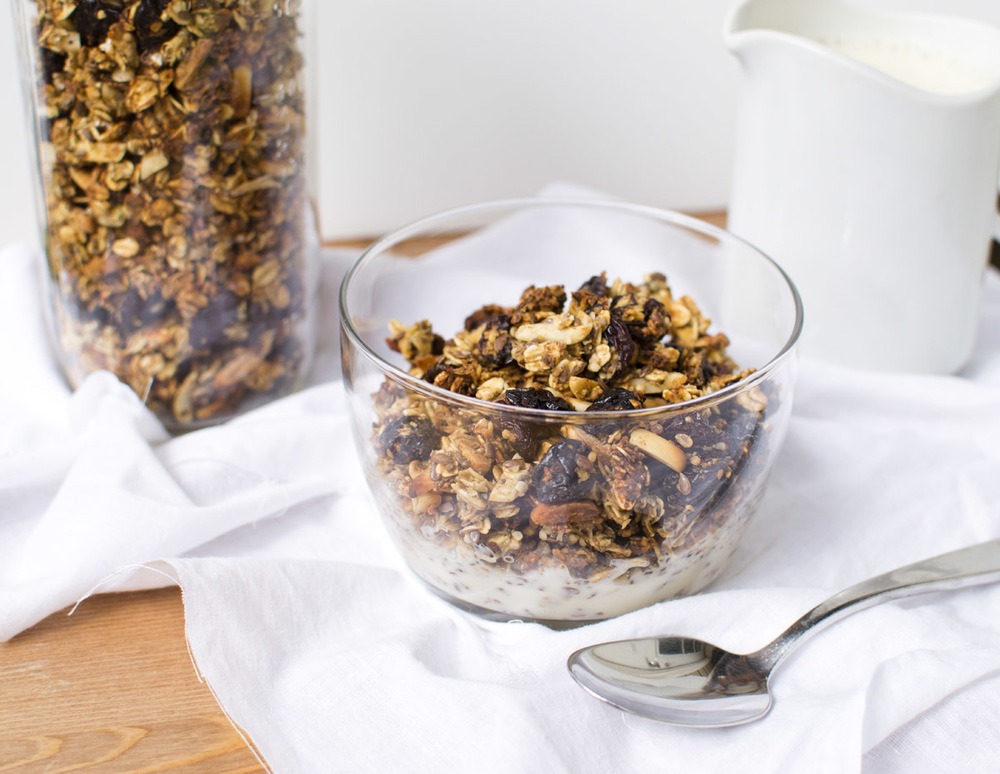 Date Sweetened Cherry Almond Granola