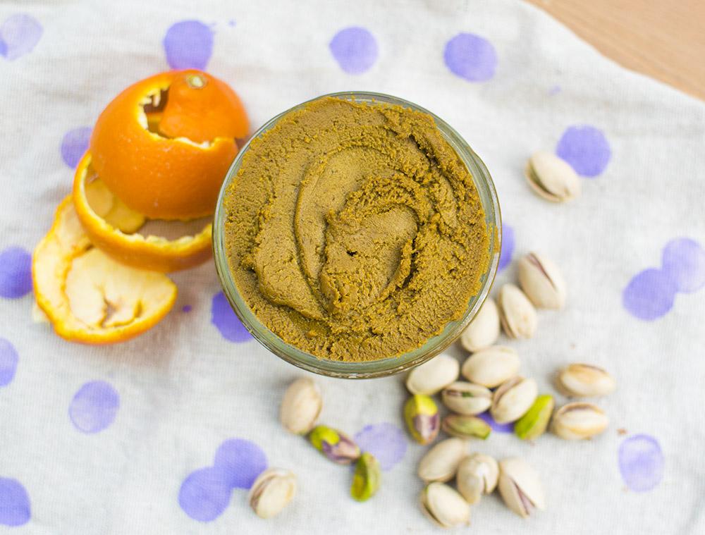 Orange Vanilla Pistachio Butter