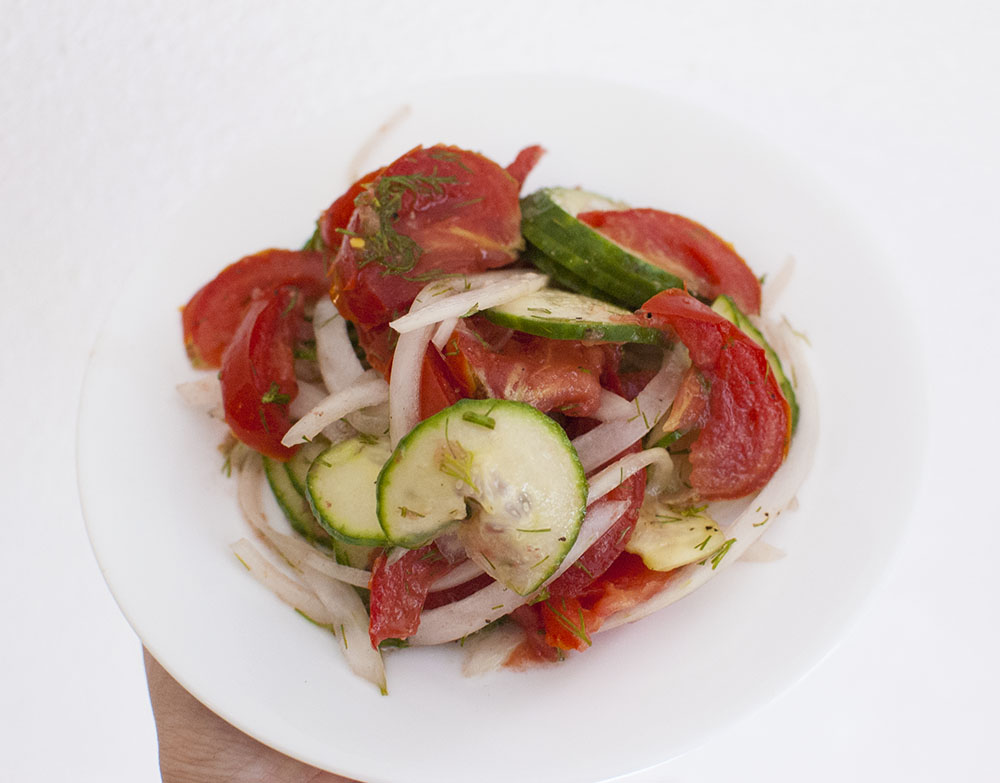 Dilled Cucumber Tomato Salad