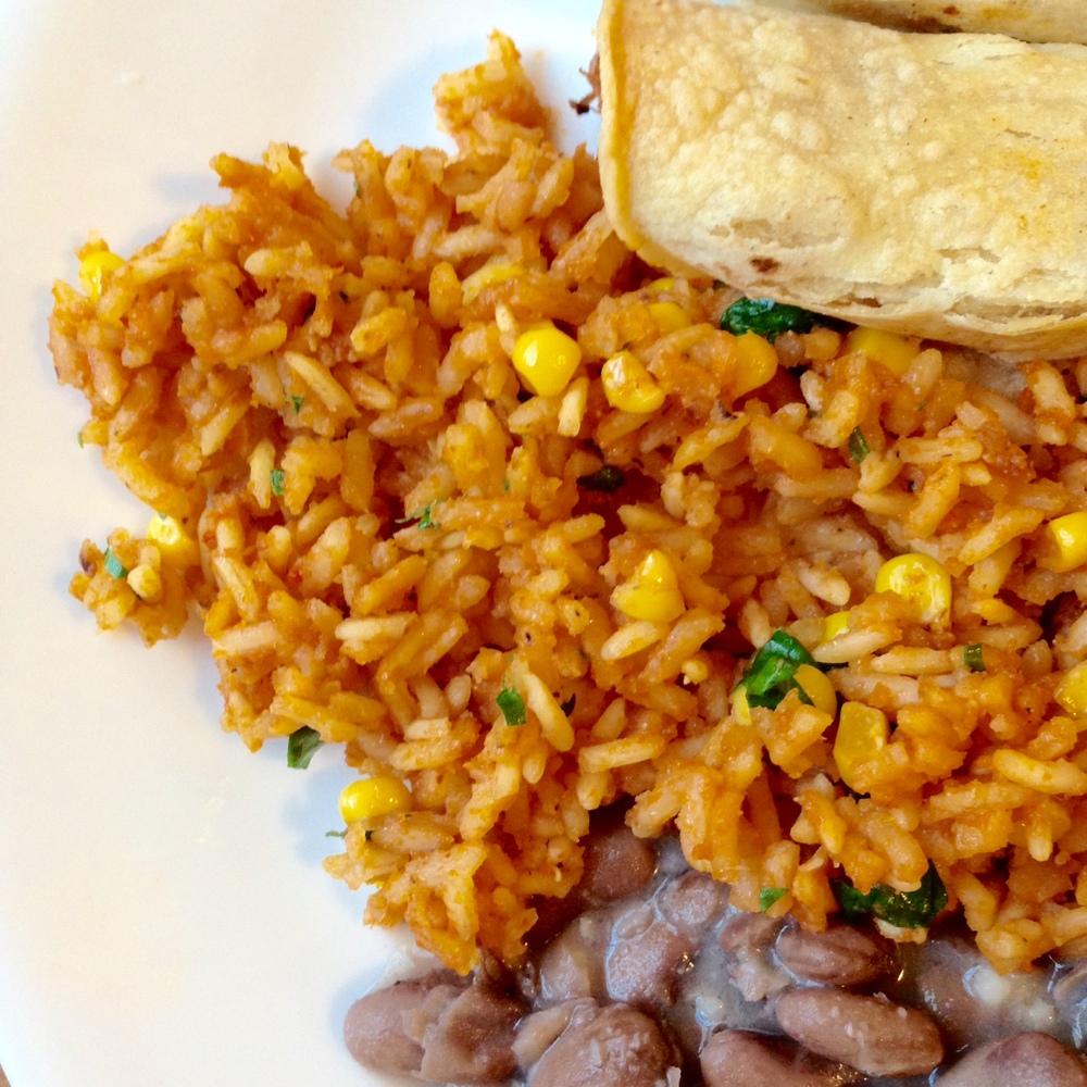 Mexican Restaurant Style Rice (vegan!)