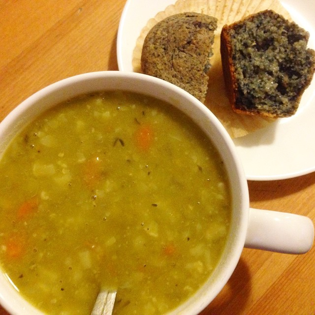 Veggie Split Pea Soup in the Pressure Cooker