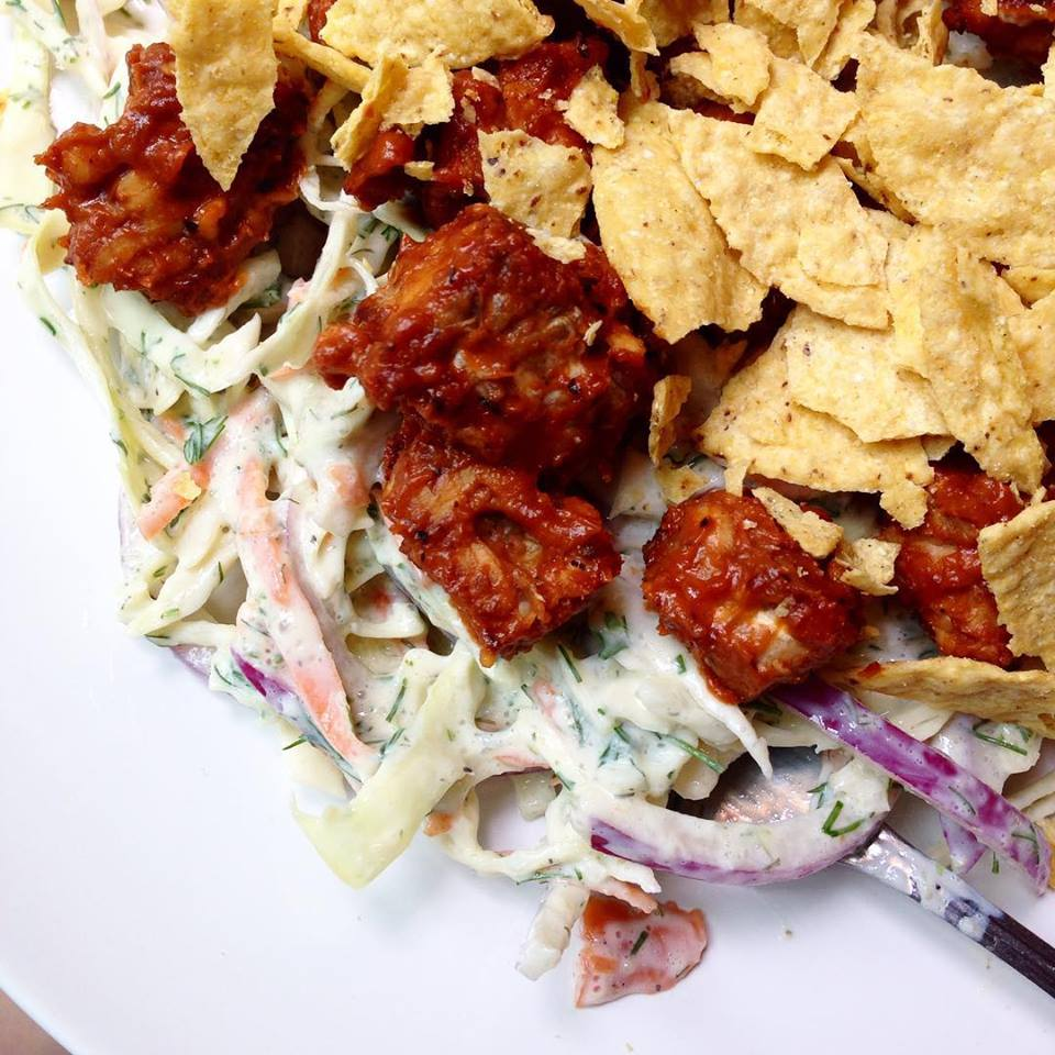 Tempeh BBQ & Dilly Slaw Salad