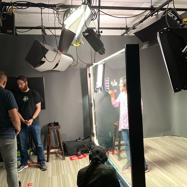 Studio shoot today, very exciting content! Using a clear plane of glass as a whiteboard, excellent for getting your ideas across! #videographer #bayareavideographer