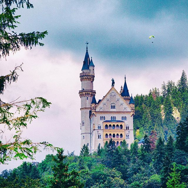 A maddening paraglider over mad Ludwig's beautiful Neuschwanstein castle - - #paragliding #neuschwansteincastle #neuschwanstein #castle  #bavaria #germany #bucketlist